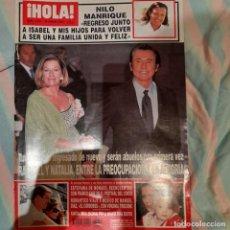 Coleccionismo de Revista Hola: REVISTA HOLA NUMERO 3051 RAPHAEL Y NATALIA. Lote 294971998