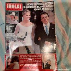 Coleccionismo de Revista Hola: REVISTA HOLA NUMERO 3087 VICTORIA DE BORBÓN DOS SICILIAS. Lote 294973783