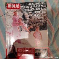 Coleccionismo de Revista Hola: REVISTA HOLA NUMERO 3125 JULIO IGLESIAS Y MIRANDA. Lote 294974158