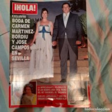 Coleccionismo de Revista Hola: REVISTA HOLA NUMERO 3230 CARMEN MARTINEZ BORDIU. Lote 294974683