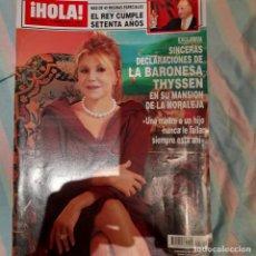 Coleccionismo de Revista Hola: REVISTA HOLA NUMERO 3310 BARONESA THYSSEN. Lote 294975443