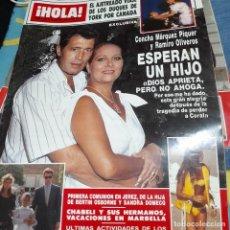 Colecionismo da Revista Hola: REVISTA HOLA NUMERO 2243 CONCHA MÁRQUEZ PIQUER. Lote 295485203