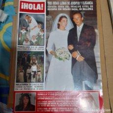 Colecionismo da Revista Hola: REVISTA HOLA NUMERO 2355 BODAS LLENAS DE JUVENTUD. Lote 295485823