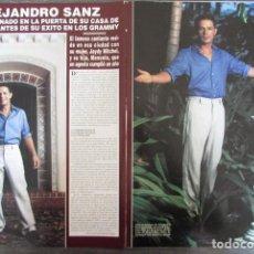 Coleccionismo de Revista Hola: RECORTE REVISTA HOLA N.º 3034 2002 ALEJANDRO SANZ. 2 ARTÍCULOS. 5 PGS. Lote 296952783