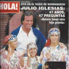 Coleccionismo de Revista Hola: REVISTA HOLA NUMERO 2414 DEL 15-11-1990. SUMARIO EN INTERIOR. Lote 297279348