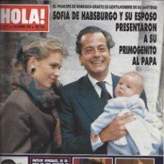 Coleccionismo de Revista Hola: REVISTA HOLA NUMERO 2417 DEL 06-12-1990. SUMARIO EN INTERIOR. Lote 297282558