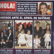 Coleccionismo de Revista Hola: REVISTA HOLA NUMERO 2420 DEL 27-12-1990. SUMARIO EN INTERIOR. Lote 297282903