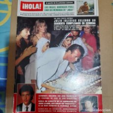 Coleccionismo de Revista Hola: REVISTA HOLA NUMERO 2041 JULIO IGLESIAS. Lote 297341223