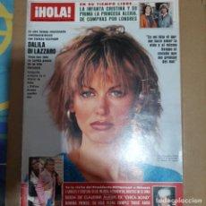 Coleccionismo de Revista Hola: REVISTA HOLA NUMERO 2058 DALILA DI LAZZARO. Lote 297342138