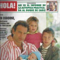 Coleccionismo de Revista Hola: REVISTA HOLA NUMERO 2329 DEL 06-04-1989. SUMARIO EN INTERIOR. Lote 297363323