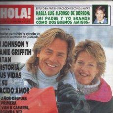 Coleccionismo de Revista Hola: REVISTA HOLA NUMERO 2330 DEL 13-04-1989. SUMARIO EN INTERIOR. Lote 297363443