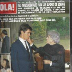 Coleccionismo de Revista Hola: REVISTA HOLA NUMERO 2332 DEL 27-04-1989. SUMARIO EN INTERIOR. Lote 297363843