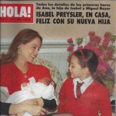 Coleccionismo de Revista Hola: REVISTA HOLA NUMERO 2333 DEL 04-05-1989. SUMARIO EN INTERIOR. Lote 297364068