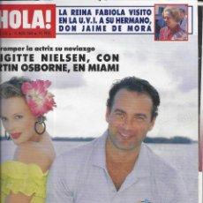 Coleccionismo de Revista Hola: REVISTA HOLA NUMERO 2334 DEL 11-05-1989. SUMARIO EN INTERIOR. Lote 297364198