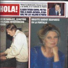 Coleccionismo de Revista Hola: REVISTA HOLA NUMERO 2336 DEL 25-05-1989. SUMARIO EN INTERIOR. Lote 297364588
