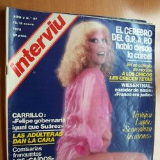 Coleccionismo de Revista Interviú: INTERVIU Nº 87 - 12-18 ENERO 1978 - EL CEREBRO DEL GRAPO HABLA DESDE LA CARCEL. Lote 22352155