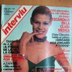 Coleccionismo de Revista Interviú: INTERVIU Nº 137 - 28 DICIEMBRE 3 ENERO 1978-79 - EN PORTADA Y CUATRO PA´GINAS INTERIORES ROSA VALENT. Lote 156738306
