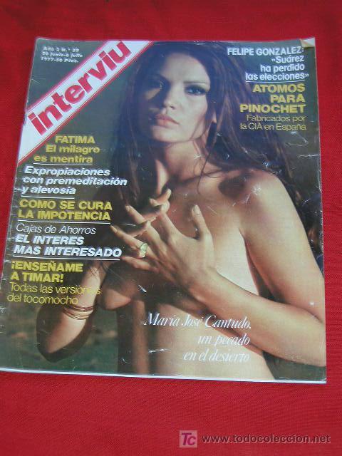 Interviú Año 2 Nº 59 Semana Del 30 Junio 6 Julio 1977 Maria Jose Cantudo Desnuda En Portada