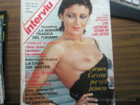 Revista Interviú 1977tita Cervera Desnudade Colección