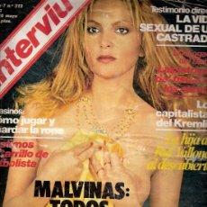 Coleccionismo de Revista Interviú: REVISTA INTERVIU Nº 313 - 1982 - MUNDIAL ESPAÑA 82 - CARRILLO CON LA CAMISETA DE LA SELECCION (FOTOS. Lote 27460707