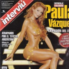 Coleccionismo de Revista Interviú: INTERVIU Nº 1342. PAULA VAZQUEZ. JUAN JOSE LUCAS. CARLOS MOYÁ. INCLUYE DESPLEGABLE GIGANTE. . Lote 27492739