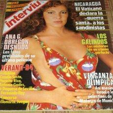 Coleccionismo de Revista Interviú: INTERVIU Nº 430. ANA GARCÍA OBREGÓN DESNUDA. 1984. 150 PTS. EJEMPLAR MÍTICO !!!!!!. Lote 12848712