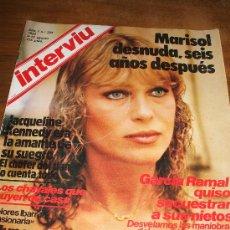 Coleccionismo de Revista Interviú: REVISTA INTERVIU CON DESNUDO DE MARISOL. Lote 17519164