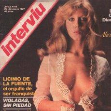 Coleccionismo de Revista Interviú: INTERVIU : AÑO 1977 N 45. Lote 17695187