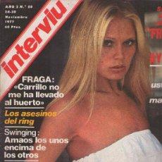 Coleccionismo de Revista Interviú: INTERVIU : AÑO 1977 N 80. Lote 17695226