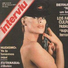 Coleccionismo de Revista Interviú: INTERVIU : AÑO 1977 N 39. Lote 17695230