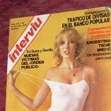 Coleccionismo de Revista Interviú: REVISTA INTERVIU 1977. Lote 18174953