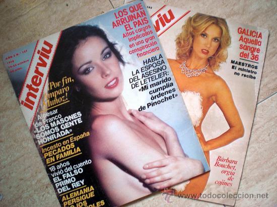 LOTE REVISTA INTERVIU 1978 (3 NUMEROS - AMPARO MUÑOZ...) (Coleccionismo - Revistas y Periódicos Modernos (a partir de 1.940) - Revista Interviú)