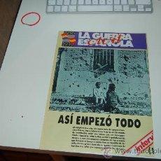 Coleccionismo de Revista Interviú: GUERRA CIVIL ESPAÑOLA: 2 FASCÍCULOS MUY ILUSTRADOS. 1992. Lote 26628346