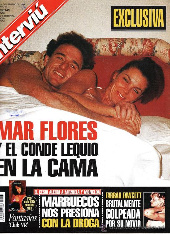 REVISTA INTERVIU.- Nº 1289.- MAR FLORES Y EL CONDE LEQUIO EN LA CAMA.- (Coleccionismo - Revistas y Periódicos Modernos (a partir de 1.940) - Revista Interviú)
