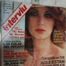 Coleccionismo de Revista Interviú: REVISTA-INTERVIU-AÑO 3-1978-Nº93--MARÍA SCHNEIDER-PORTADA. Lote 22193333