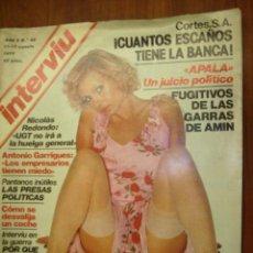 Coleccionismo de Revista Interviú: INTERVIU - 1977 Nº 65 - ANTONIO GARRIGUES - TAIDA URRUZOLA - SYLVA KOSCINA - SONIA . Lote 22283174