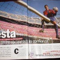 Coleccionismo de Revista Interviú: ANDRÉS INIESTA EN INTERVIÚ (AÑO 2003). Lote 23989357