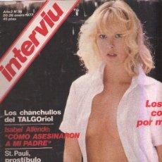 Coleccionismo de Revista Interviú: INTERVIU - N 36 - 1977 - TXIKI - ISABEL ALLENDE - ST PAULI - PALLACH . Lote 25732327
