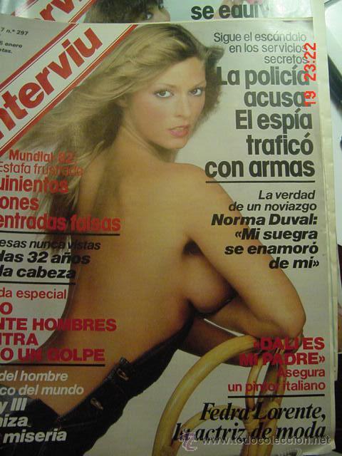 DESNUDO FEDRA LORENTE REVISTA INTERVIU Nº 297 AÑO 1982 - TEMA : MUNDIAL 82 (Coleccionismo - Revistas y Periódicos Modernos (a partir de 1.940) - Revista Interviú)