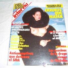Coleccionismo de Revista Interviú: INTERVIU Nº 558. ENTREVISTA A MATIAS PRATS. PACO LLORENTE AL MADRID. ANTONIO SANCHEZ PORTERO. MAFIA. Lote 27760549