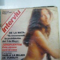 Coleccionismo de Revista Interviú: INTERVIU Nº52 DEL12 AL 118 DE MAYOO 1977 AÑO 2-AMPARO MUÑOZ-LA MUJER DE DURRUTI HABLA-DE LA MATA. Lote 27939110