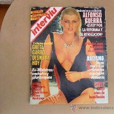 Coleccionismo de Revista Interviú: REVISTA INTERVIU Nº 434 AÑ0 1984, EXCLUSIVA MUNDIAL GRETA GARBO DESNUDA HOY, ALFONSO GUERRA. Lote 28200752