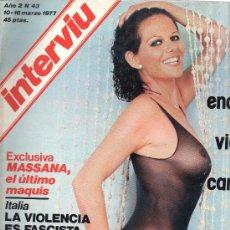 Coleccionismo de Revista Interviú: REVISTA INTERVIU Nº 43 10-16 MARZO 1977. Lote 28281007