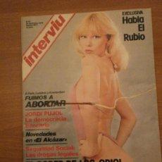 Coleccionismo de Revista Interviú: REVISTA INTERVIU , Nº 33- 30 DICIEMBRE DE 1976 AL 4 ENERO 1977- HABLA EL RUBIO. Lote 29506216
