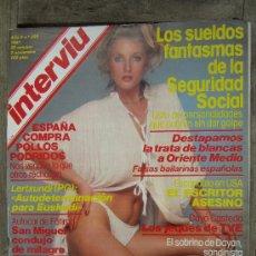 Coleccionismo de Revista Interviú: INTERVIU 285 NOVIEMB 1981 EVA ROBINS EL TRAVESTI MAS GUAPO DEL MUNDO, LA BIBI ITALIANA Y MUCHO MAS. Lote 29754615