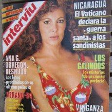 Coleccionismo de Revista Interviú: INTERVIU 430 - 1984 , ANA OBREGON , LOS GALINDOS ,VENGANZA OLIMPICA , CELA ENTREVISTA A FRAGA , ETC. Lote 30277748