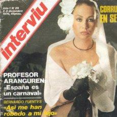 Coleccionismo de Revista Interviú: REVISTA INTERVIU NUM 29 DE DICIEMBRE 1976. Lote 30394129