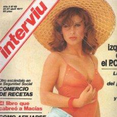 Coleccionismo de Revista Interviú: REVISTA INTERVIU NUM 49 ABRIL 1977. Lote 30394894