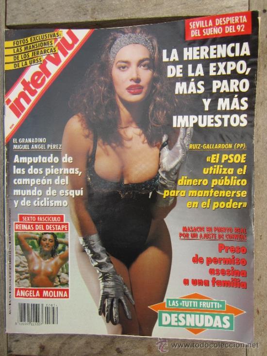 Interviu N854 Septiembre 1992 Angela Molina Majas Desnuda Y Pintada Etc
