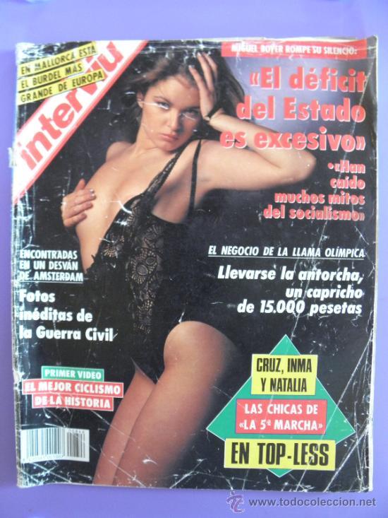 REVISTA INTERVIÚ Nº 846 AÑO 1992 CHICAS DE LA 5ª MARCHA (Coleccionismo - Revistas y Periódicos Modernos (a partir de 1.940) - Revista Interviú)